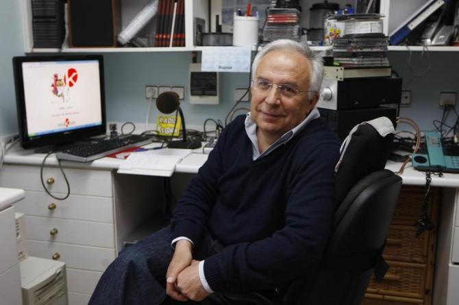 Manolo Gallego fundó Radio Klara hace tres décadas. M.F.